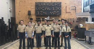 Chicago-area Boy and Girl Scouts spent the day at the Plumber's Union Local 130 earning career merit badges.