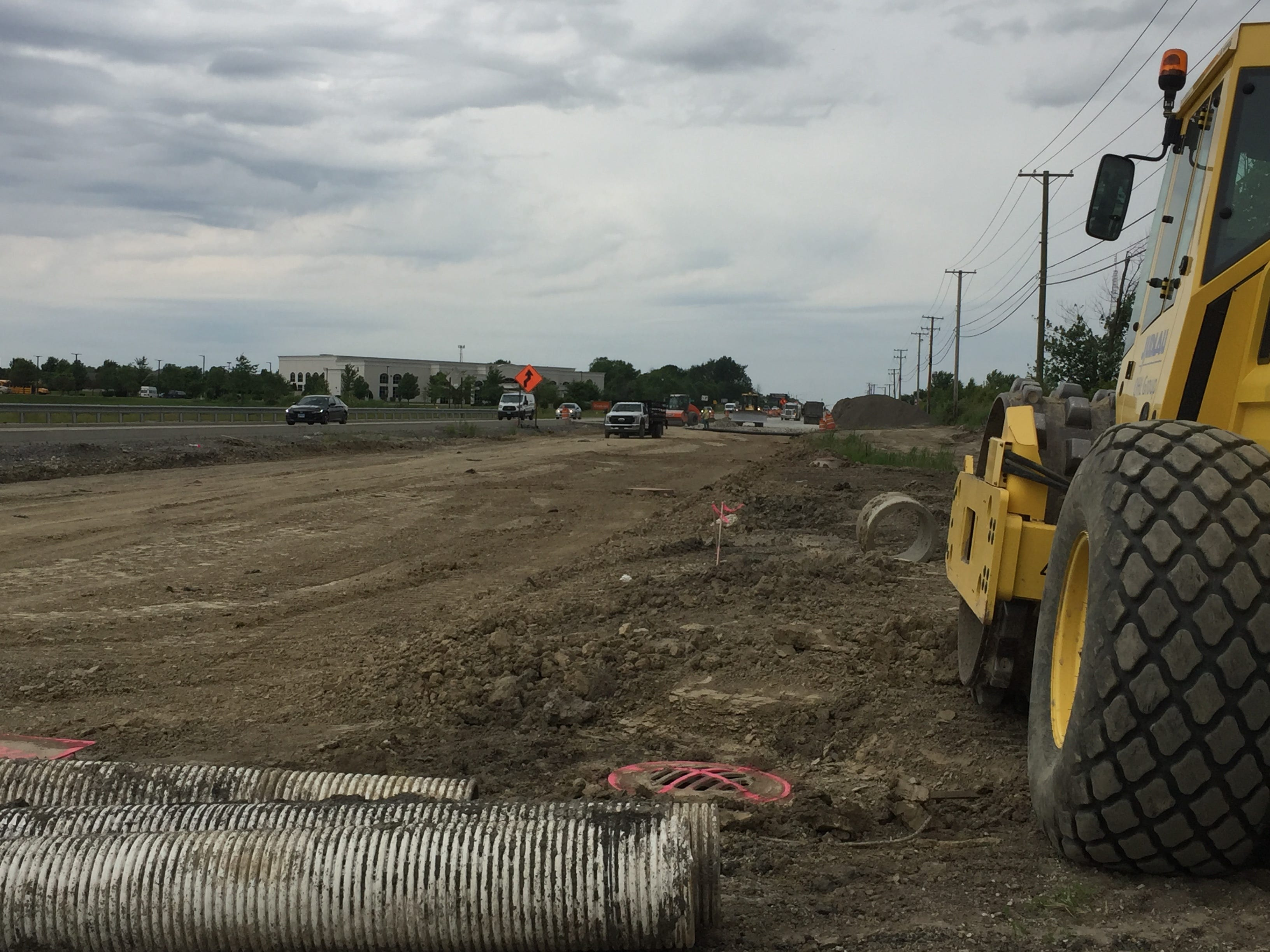 Construction Continues On 159th Street In Orland Park, Homer