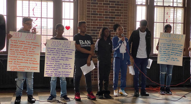 "For three years now, a West Loop elementary school has been trying to change the name of a park in the North Lawndale neighborhood. And on Monday, they had what they called a ""teach-in"" at the park."