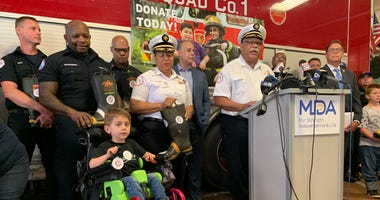 Chicago firefighters will be on street corners for the next three afternoons to raise money in the fight against muscular dystrophy, ALS and other related neuromuscular diseases. .