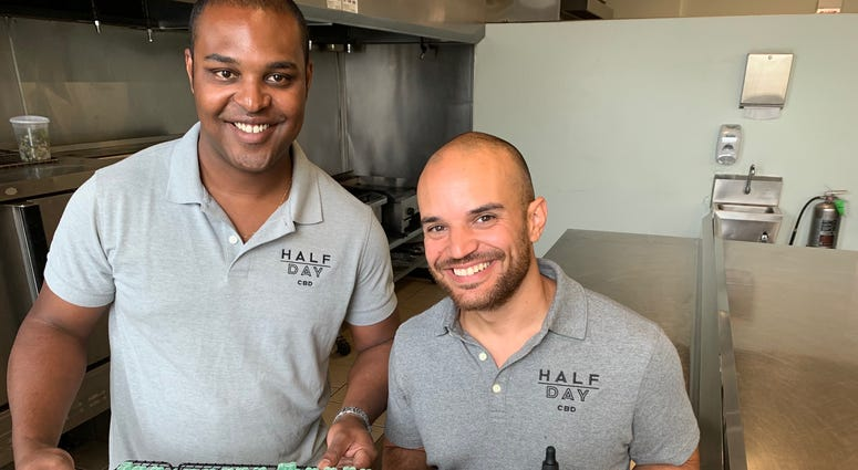 Kameron Norwood and Dave DiCosola, founders of Half Day CBD