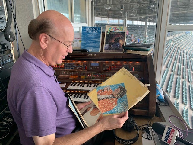 It's the Saturday of the last regular season home stand and Gary Pressy goes through some of his sheet music, some torn, worn and tattered, some more than 50-years old.
