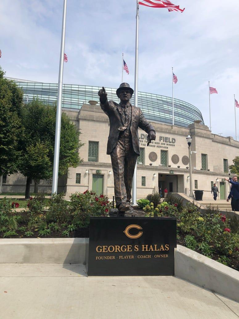 George Halas statue