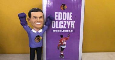 """""""Hockey Fights Cancer"""" Eddie Olczyk bobblehead"""