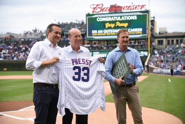 Chicago Cubs organist Gary Pressy