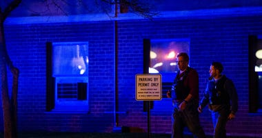 Chicago Police investigate the scene where a 14-year-old girl was shot, Monday night, in the 2700 block of South Indiana, in the South Commons neighborhood.