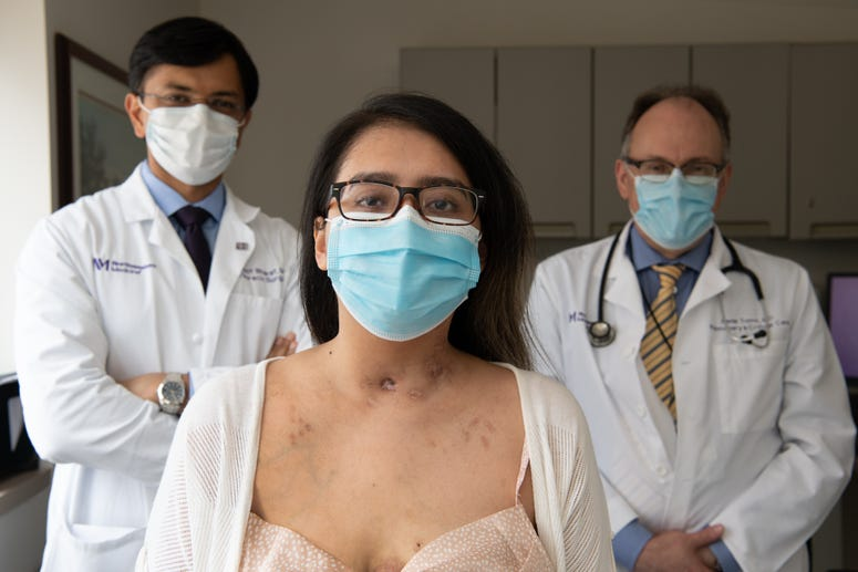 Mayra Ramirez, Dr. Bharat and Dr. Tomic