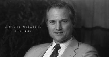 Michael McCaskey, 76, former chairman of the Bears, died after a lengthy battle with cancer.