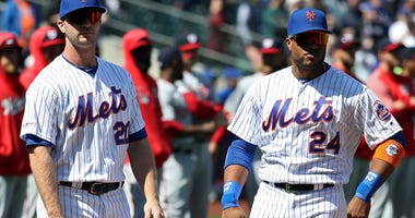 Pete Alonso and Robinson Cano line up for the New York Mets on Opening Day