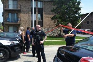 Oak Lawn police find dead man in barricaded apartment.
