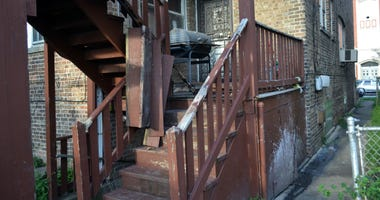 1 person was injured during a porch collapse about 5:30 p.m. Sunday, August 18, 2019 in the 8100 block of South May Avenue in the Auburn Gresham neighborhood.