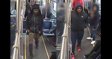 Two men wanted for allegedly exchanging gunfire March 24, 2020, on a Red Line train in Chatham.