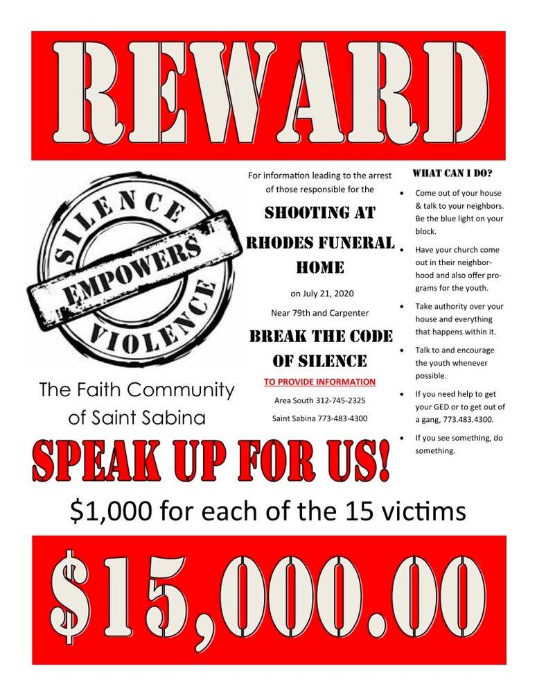 Reward flyer in Gresham shooting