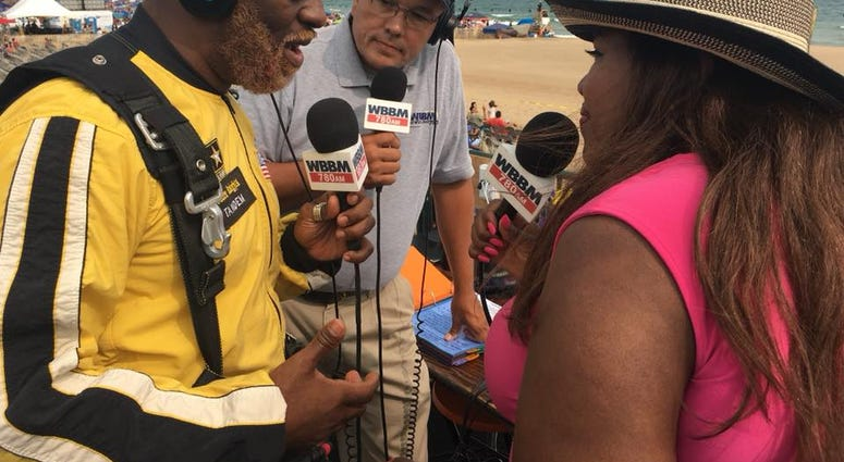 Rhymefest opened Air & Water Show with tandem parachute jump