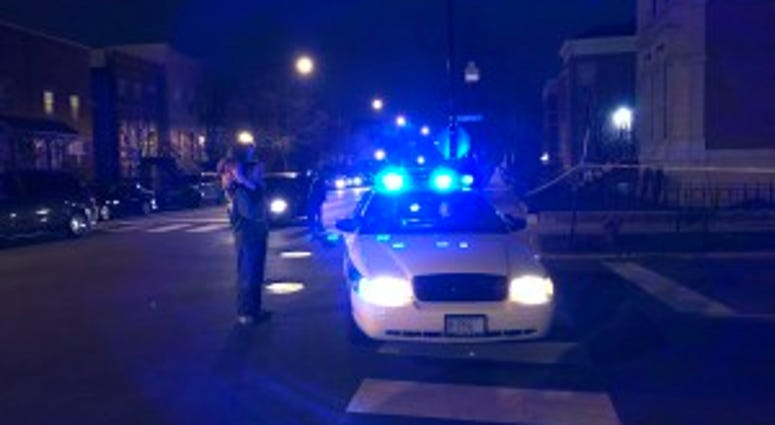 Riverdale Police investigate a scene where multiple people were shot Thursday in the 13800 block of Wallace Avenue.