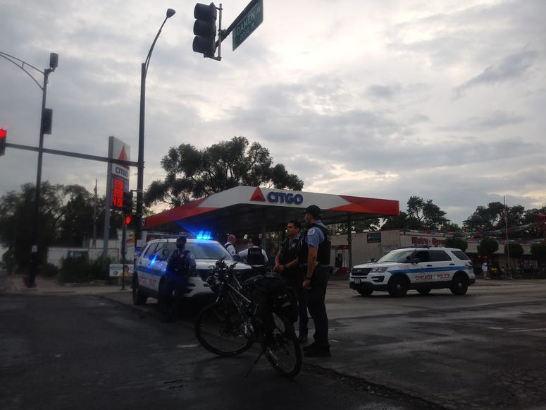 Police block 63rd and Damen after shooting of suspect Michael Blackman
