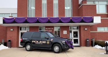 Purple Bunting Berwyn Police Department