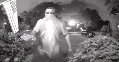 Surveillance images of a man wanted in connection with a series of burglaries in August in Mount Greenwood