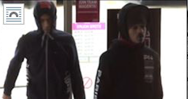 Surveillance image of two people wanted for stealing iPhones Jan. 8, 2020, from a T-Mobile store at 356 S. Weber Road in Romeoville.