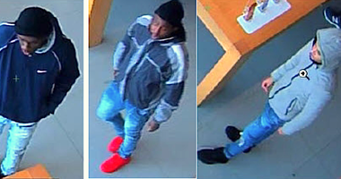 Police say these three men stole multiple iPhones from an Apple Store in Oak Brook.