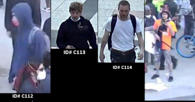 Police released photos of four men wanted in connection to an arson from May 30, 2020, in the 400 block of North Lower Michigan Drive.