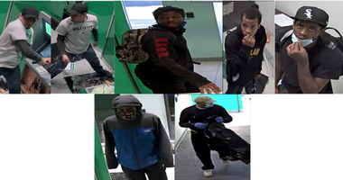 Police released photos of men wanted for allegedly burglarizing a bank in Bronzeville in June 2020.