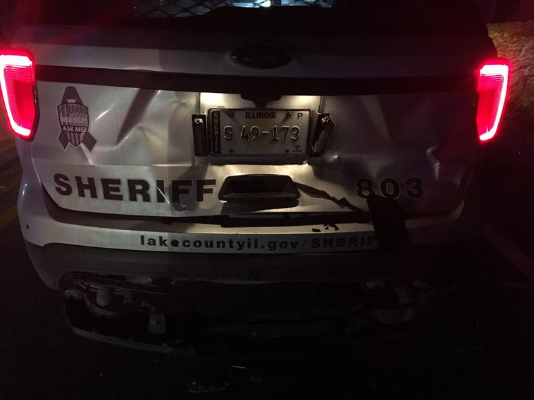 A woman is charged with DUI and violating Scott's Law after a crash with a Lake County sheriff's squad car Jan. 15, 2020, on Wadsworth Road near Delany Road in north suburban Wadsworth.