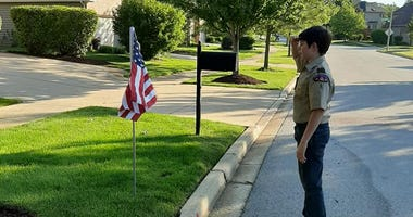 Scout Troop Decorates Batavia For Flag Day
