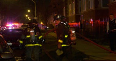 A firefighter was injured in an early apartment fire in the 6200 block of Vernon Ave.