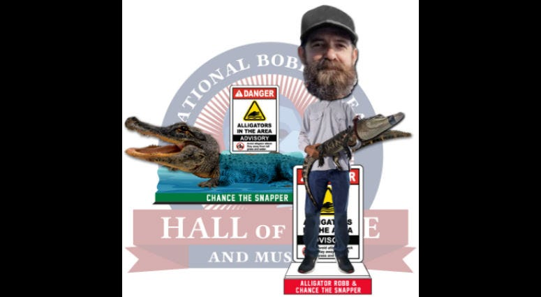 "Frank ""Alligator"" Robb and Chance the Snapper Dual Bobblehead"