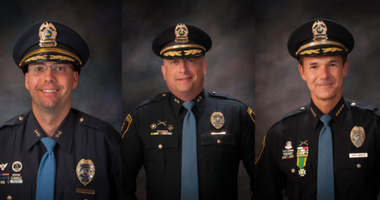 From left to right: Kevin Urbanczyk, Chief of Operations; Royce Williams, Chief of Services; Mark Swistek, Chief of Police