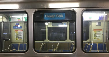 Blue line Forest Park