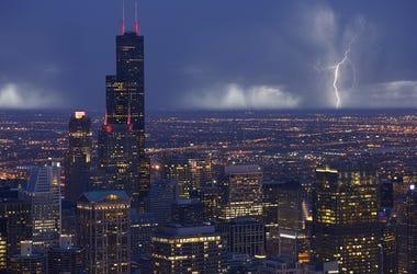 Chicago Thunderstorm rain lightning
