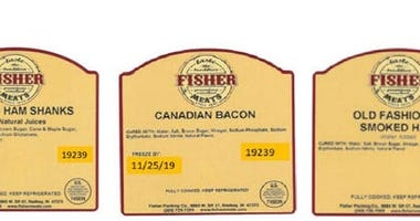 The U.S. Department of Agriculture has announced a Class 1 High Health Risk recall of approximately 744 pounds of ready-to-eat pork products that may be contaminated with Listeria.