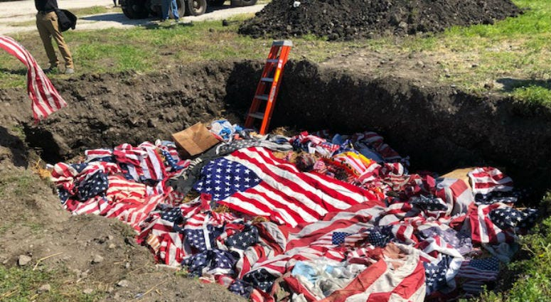 On this Flag Day, the city of Chicago carried on a 13-year tradition, burning American Flags that have become worn out.