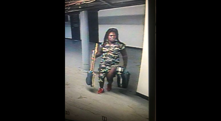 A surveillance camera captured an image of the suspect.