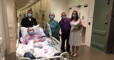 A first of its kind wedding at Lake Forest Hospital, as a mother with terminal cancer is able to witness her daughter's wedding.