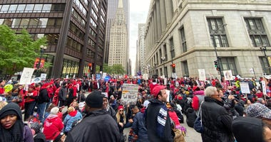 CTU rally downtown outside Thompson Center