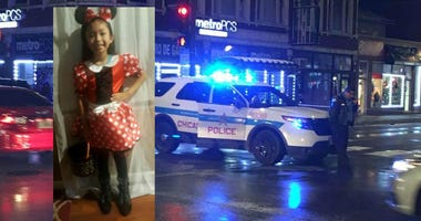 The condition of the 7-year-old girl who was shot while trick-or-treating on Halloween in Little Village on the Southwest Side is improving at a hospital.
