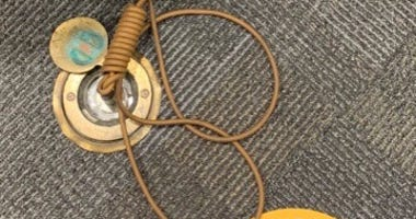 Noose Shaped Cord At Courthouse