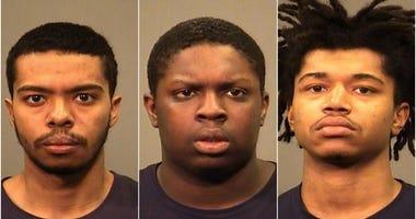 Montee Simpson Jr (L), Ed Lewis (M), Dequan Wayne-Deon Kohnke (R)