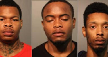 From left: Herbert Sanderfer, Alvin Thomas and Dijon Williams | Chicago police