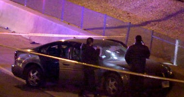A man was shot to death while getting onto the Eisenhower Expressway early Saturday on the Near West Side.