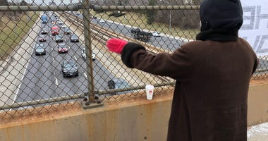 Woman Atop Expressway