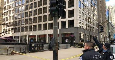 Michigan Avenue Falling Glass