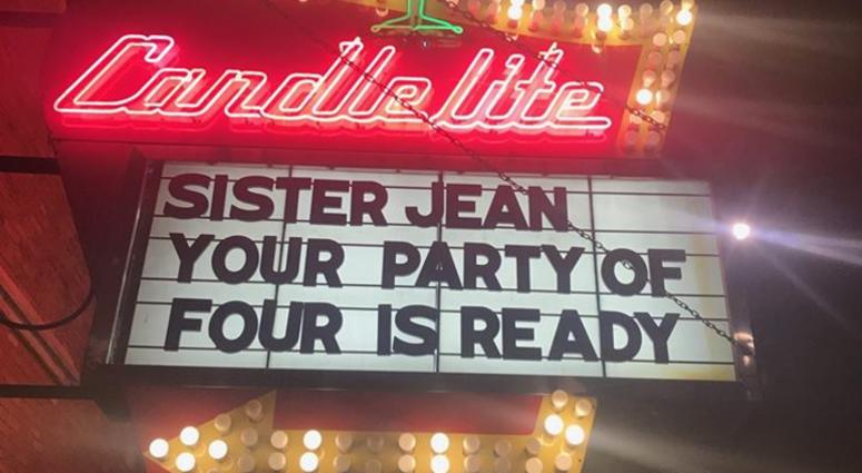 Rogers Park Restaurant S Sister Jean Marquee Receives