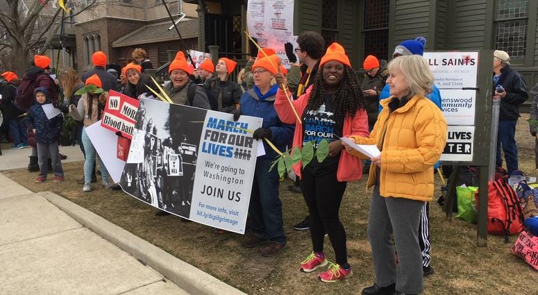 Chicagoans March For Our Lives