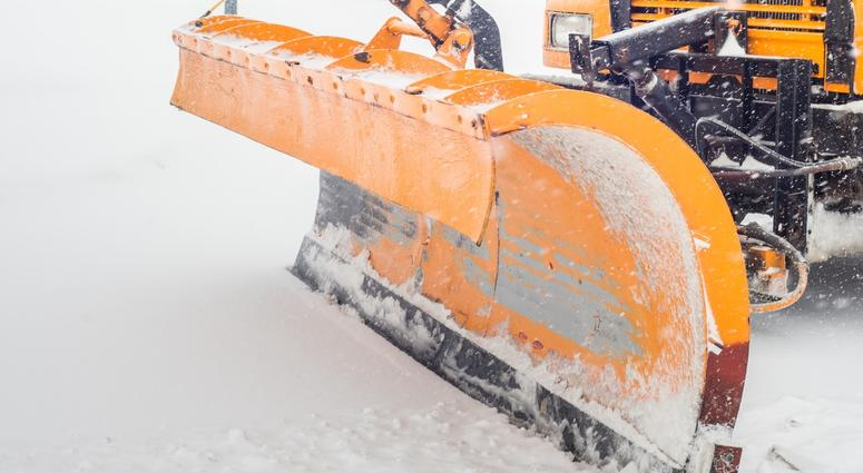 Snow Plow In Action