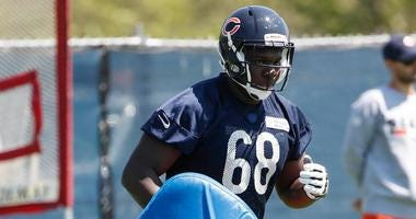 Bears offensive lineman James Daniels