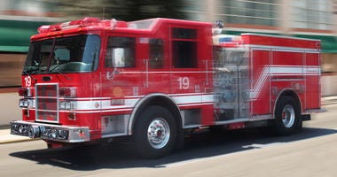 Fire Engine In Motion